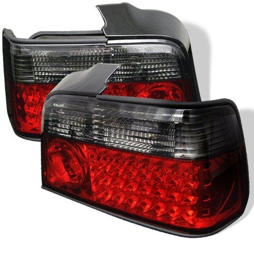 Redlines Tl-Be3692-4D-Led-Rs Red/Smoke Medium Led Tail Light For Bmw E36 3-Series '92-'98 4Dr - Pair