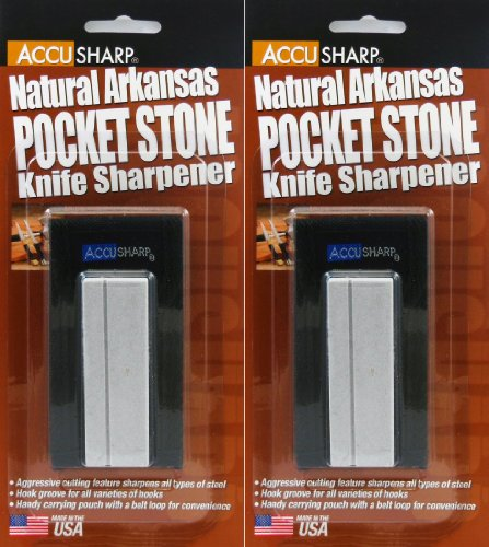Accusharp Natural Arkansas Pocket Stone 024 Knife Sharpener 2 Pack