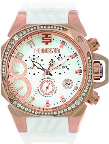 technosport-ts-103-2-womens-white-silicone-band-gold-bezel-40mm-white-dialstainless-steel-chronograp