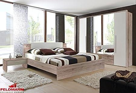 Schlafzimmer komplett 4-teilig 54056 eiche san remo / weiß