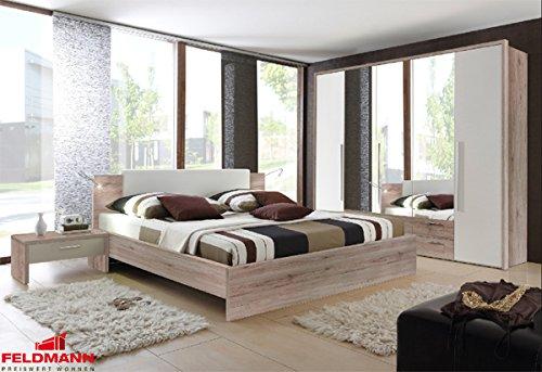 Schlafzimmer komplett 4-teilig 54056 eiche san remo / weiß jetzt kaufen