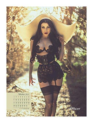 sonic seducer 09 2014 gothic fetisch kalender 2015 poster. Black Bedroom Furniture Sets. Home Design Ideas