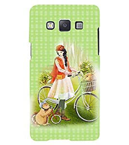 Fuson 3D Printed Girly Designer back case cover for Samsung Galaxy A5 - D4482