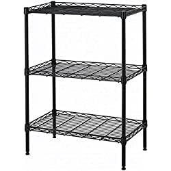 Wire Shelving Cart Unit 3 Shelves with Casters Shelf Rack