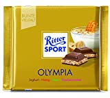 Ritter Sport Olympia Yogurt Honey and Nuts-Pack of 3