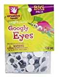 Creative Hands by Fibre-Craft - 5-30mm Black Glue-On Googly Eyes - Teaches Creativity - Multipurpose - 120 Pack