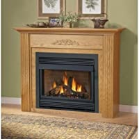 Napoleon GVF36-2N 30 000 BTU Vent Free Natural Gas Fireplace With Safety Pull Screen Realistic PHAZER Logs Oxygen Depletion Sensor & 99.9% Steady State High