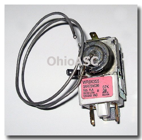 Wr9X355 Ge Refrigerator Thermostat Cold Control front-100284