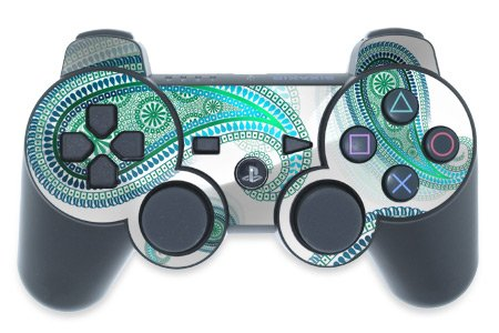 Mygift Azure Design Ps3 Playstation 3 Controller Protector Skin Decal Sticker