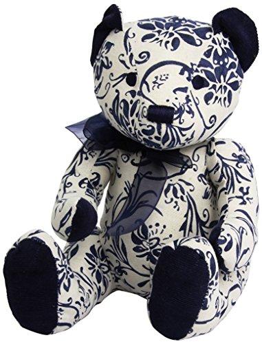 """Gund Marabella Blue Paisley 10"""" Bear Plush"""