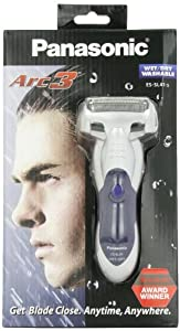 Panasonic ES-SL41-S 3-Blade Wet/Dry Electric Razor with Rubberized Grip, Silver