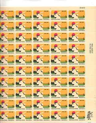 Professional Baseball Sheet of 50 x 6 Cent US Postage Stamps NEW Scot 1381