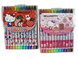 Sanrio Hello Kitty Crayon Set - Hello Kitty Crayon Stick Stationary Supplies Pack (12 Crayons)