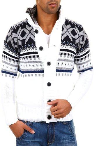Carisma - 7011 - Pullover lavorato a maglia norvegese - Bianco - M