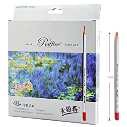sunyou Fine Art Colored Pencils Adult Children Drawing Sketch Coloring Book Pencils, 48-Count