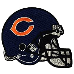 Chicago Bears Helmet Logo Embroidered Iron Patches