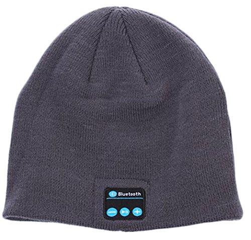 Koododo® Cool Bluetooth Wireless Music Beanie Hat With Microphone & Stereo Headphone Hands Free, Best Christmas Gift (Bluetooth Beanie Dark Grey)