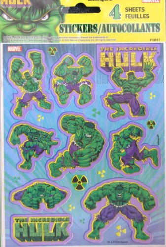 The Incredible Hulk Stickers - Buy The Incredible Hulk Stickers - Purchase The Incredible Hulk Stickers (Hulk, Toys & Games,Categories,Arts & Crafts,Stamps & Stickers)