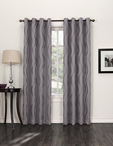 Sun Zero Travis Blackout Curtain Panel, 52 by 84-Inch, Frost
