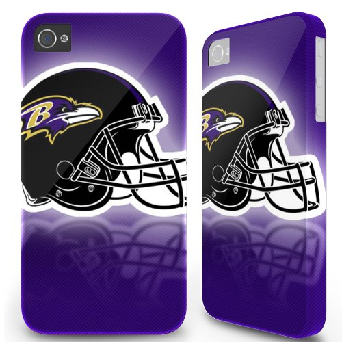 Iphone 4/4S Hard Case Cover - Baltimore Ravens Helmet Gradi Purple at Amazon.com
