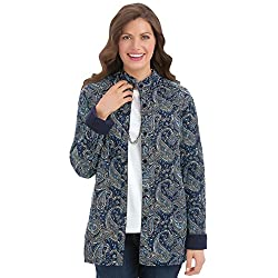 Collections Etc Reversible Paisley Quilted Jacket