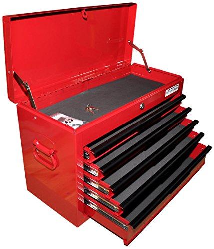 Werkzeugkoffer, Werkzeugbox, Werkzeugkiste, Angelkoffer, Werkzeugkasten 5 Schubladen, rot, 12010063