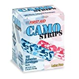 First-Aid Pink Blue Camouflage Bandages - 100 per pack