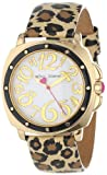 Betsey Johnson Women's BJ00044-09 Analog Leopard Printed Leather Strap Watch