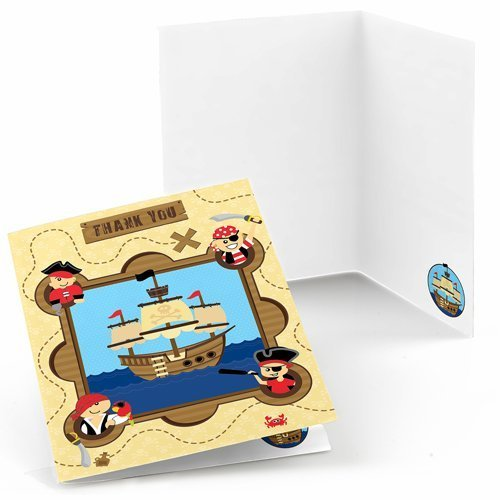 Ahoy Mates! Pirate Thank You Cards (8 count)