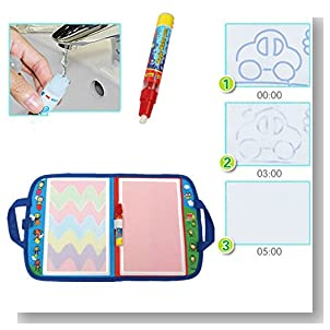 Yosoo Kid Baby Doodle Aquadoodle Board Writing Sketching Pad Water Mat Drawing Board with Painting Magic Pen Toy Travel