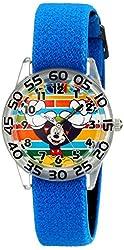 Disney Kids' W001947 Mickey Mouse Analog Blue Watch
