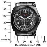 U.S. Polo Assn. Men's US8455EXL Black Dial Extra Long Gun Metal Bracelet Watch