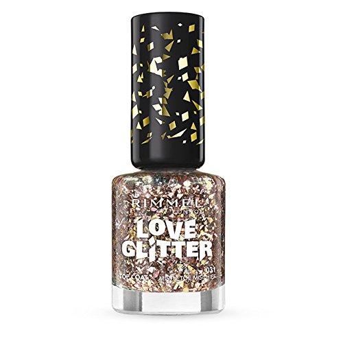 Rimmel London Love Nail Varnish Shade numero 031, Vischio, Mischief, con brillantini, colore: bronzo