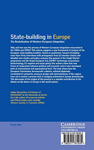 State-building in Europe Hardback: The Revitalization of Western European Integration