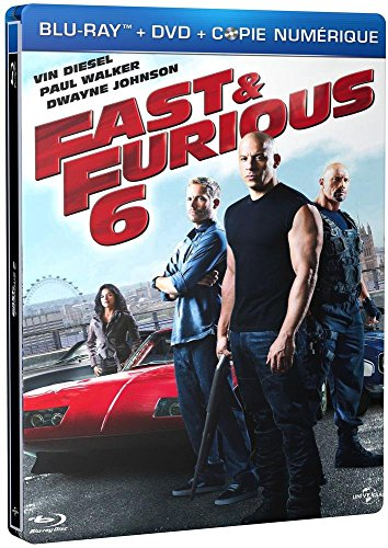 Fast & Furious 6 - Combo Blu-Ray+ Dvd + Copie Digitale - Édition Boîtier Steelbook