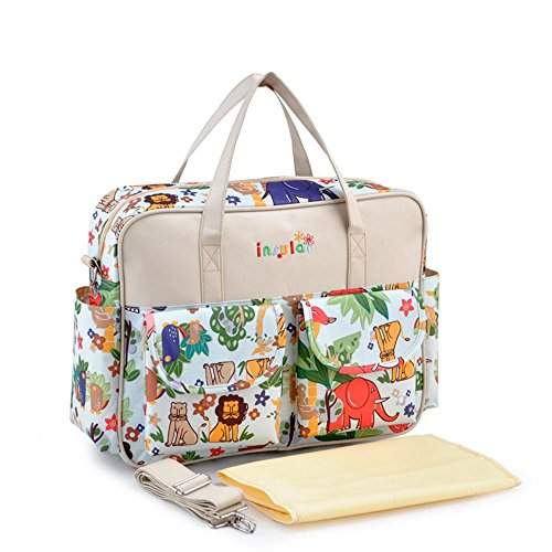 sine90r-large-baby-mummy-waterproof-nappy-changing-bags-with-changing-mat-diaper-bag-beige
