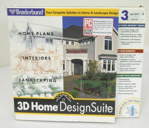 3d home design collection software computer software for Broderbund 3d home landscape design