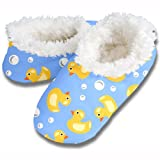 Snoozies! Duckies Women's Sherpa Footcoverings - Medium
