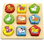 Viga Farm Animals Shape Block Puzzle