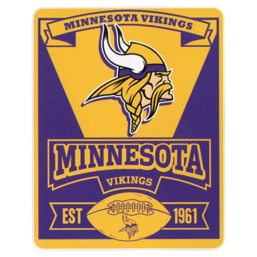 NFL Marquee Logo Fleece Blanket (Minnesota Vikings)
