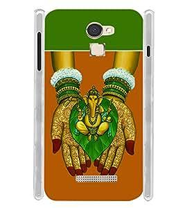 Kalash Ganesh Soft Silicon Rubberized Back Case Cover for Panasonic Eluga Mark