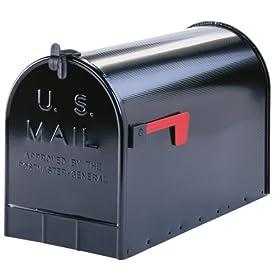 Solar ST200B00 Group Jumbo Steel Rural Mailbox, Black