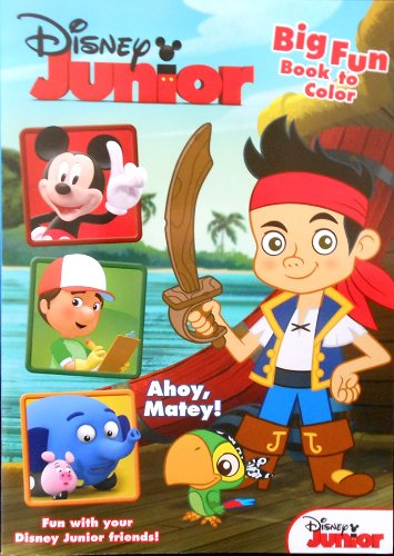 "Disney Junior Jake and the Neverland Pirates Coloring Book ""Ahoy, Matey!"" with Mickey and Friends - 1"