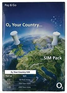 O2 Carte SIM internationale prépayée O2 (Import Royaume Uni)