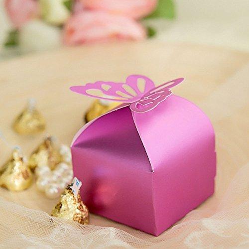 Butterfly Wedding Gift Card Box : Crazy Genie 50psc Butterfly Party Wedding Favor Box Birthday Gift Box ...