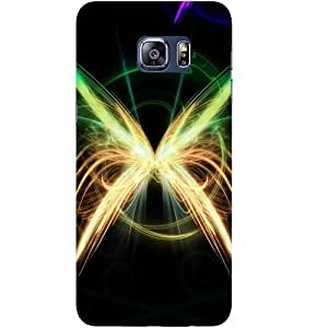 Casotec Butterfly Pattern Design Hard Back Case Cover for Samsung Galaxy S6 edge Plus