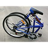 "Columba 26"" Folding Bike w. Shimano 18 Speed Blue (SP26S_BLU)"