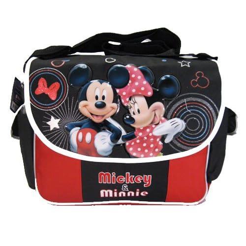 Disney Mickey & Minnie Mouse Messenger Bag  Black & Red