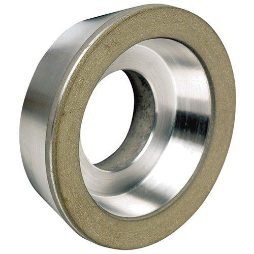 "TTC Type D11A2 - Flaring Cup Style Diamond Wheel - WHEEL DIAMETER: 5"" WHEEL THICKNESS: 1-3/4"" Hole Diameter : 1-1/4"" Diamond Depth: 1/16"" Grit: 150 Grit"