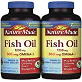 Omega 3 Fish Oil Supplements (400 Softgels) Pharmacist Recommended Fish Oil Pills (2400mg Fish Oil Concentrate, 720mg of Omega 3 Fatty Acids, 360mg EPA, 240 mg DHA)